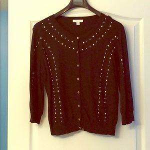 Black gold studded cardigan. NY&Comp. size XL